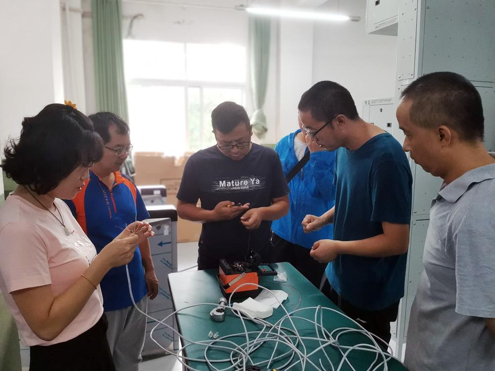 景洪市职业高级中学综合布线实训室竣工并顺利通过验收